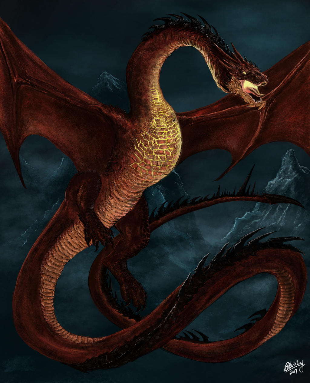 Smaug the Terrible by WretchedSpawn2012