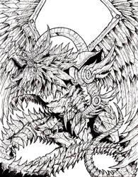 Lineart On Dragons Infinite Deviantart