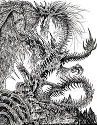 Zombie Dragon by WretchedSpawn2012