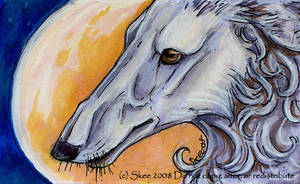 Borzoi Moon by tyreenya