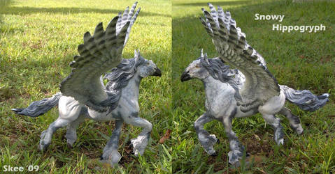 Breyer-Snowy Hippogryph by tyreenya