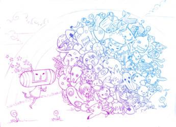 katamari: otaku planet XD by sudoru