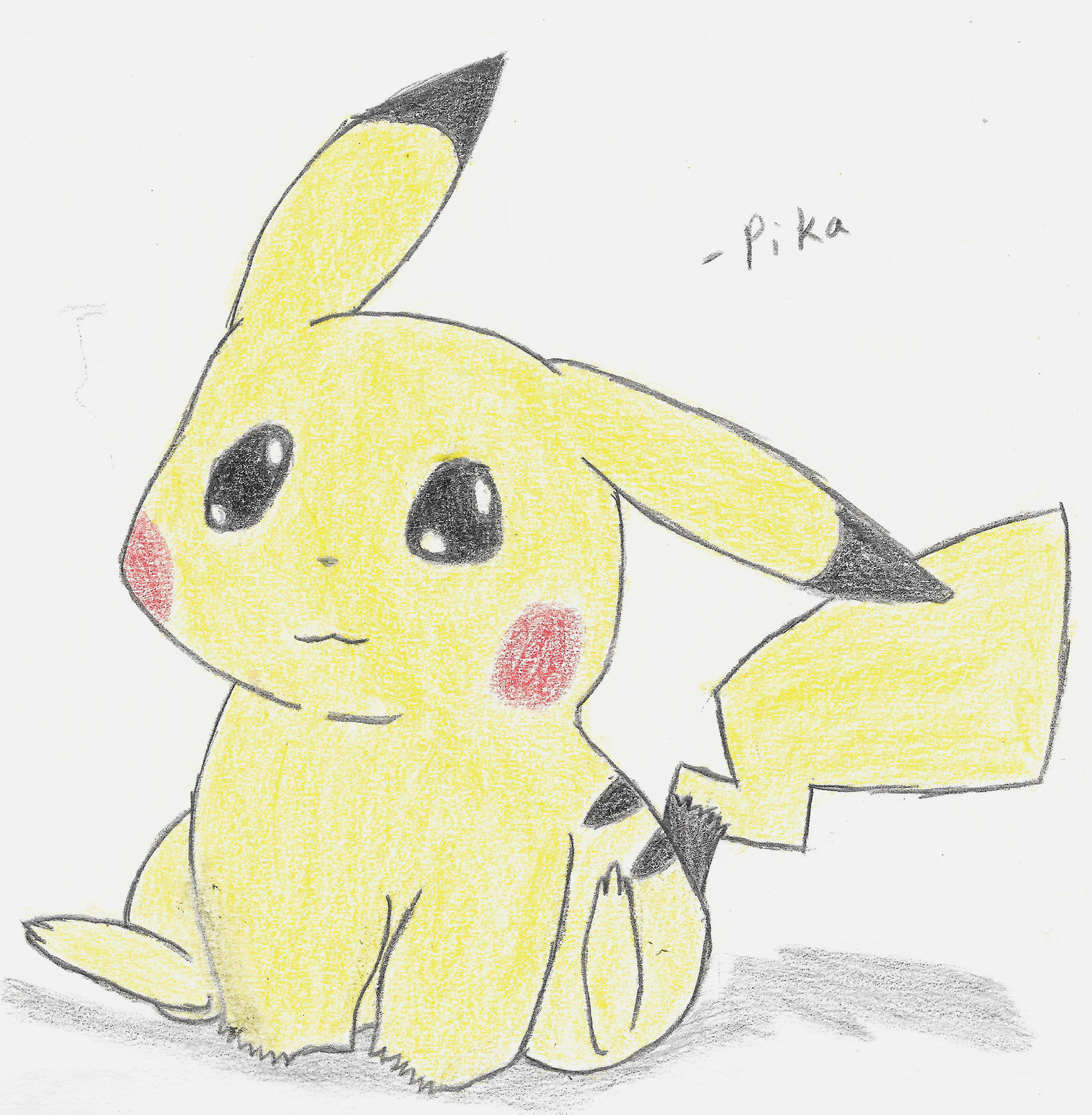 Color Pencil Pikachu by jj060499 on DeviantArt