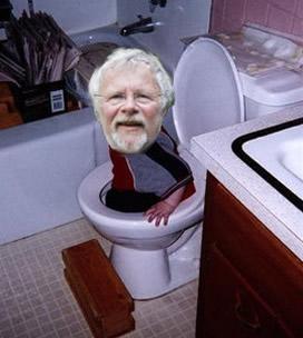Bill Oddie Stuck in a Toilet by Luketh45