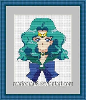 Sailor Neptune cross stitch