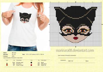 Catwoman cross stitch