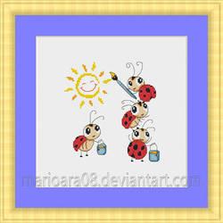 ladybugs cross stitch