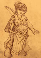 Dwarf - woman by iara-art