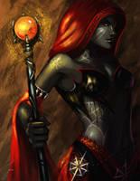 Drow Cleric by iara-art