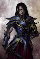 Drow fighter by iara-art
