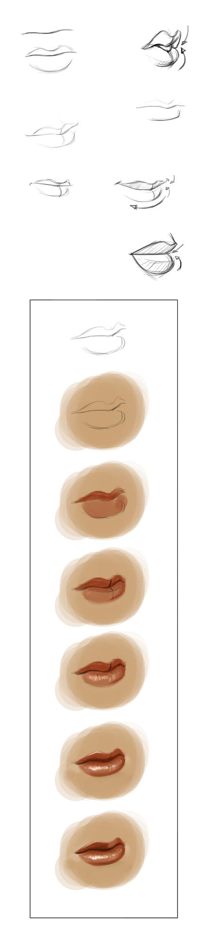 lips mini tutorial by iara-art