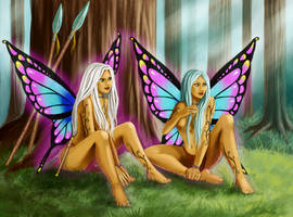 Fairy twins by iara-art