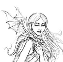 Daenerys and Drogon by iara-art