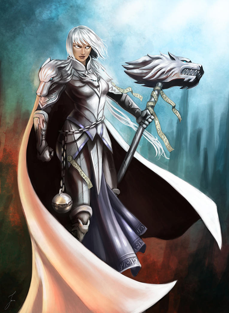 White Paladin by iara-art