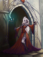 Commission: Drow Matron by iara-art