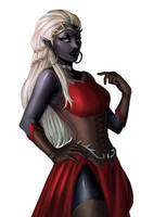 Commission: Drow queen by iara-art
