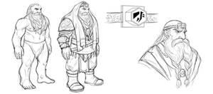 Concept art: Dwarf, male