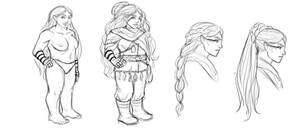 Concept art: Dwarf, female