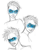 Satya face sketch by iara-art