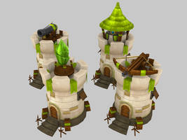 Stylized Defence Towers