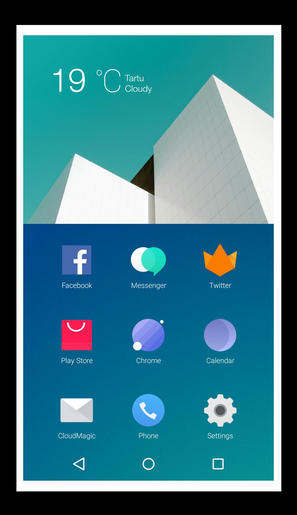 Hydrogen OS wannabe by radarist on DeviantArt