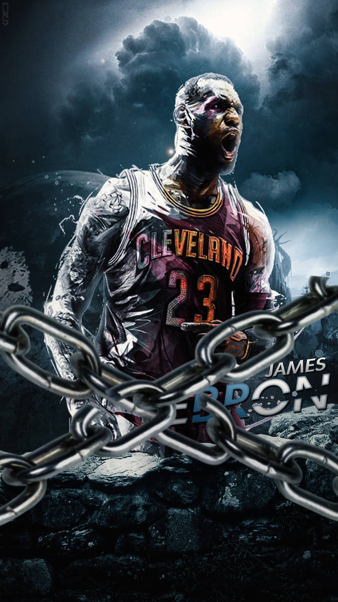 LeBron James - Manipulation (Mobile Wallpaper) by DanialGFX ...