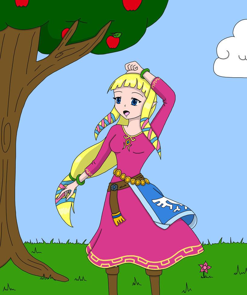 Skyward Sword Zelda by Punisher2006