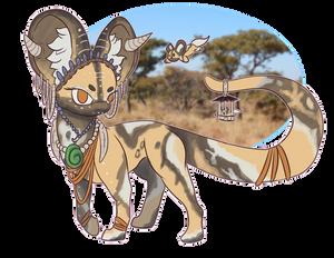 -104- African Wild Dog Plush