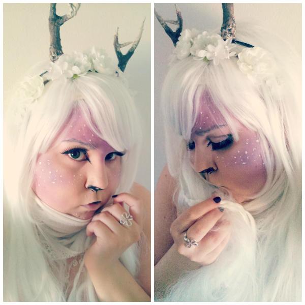 Albino fawn makeup by kagomedarkangel