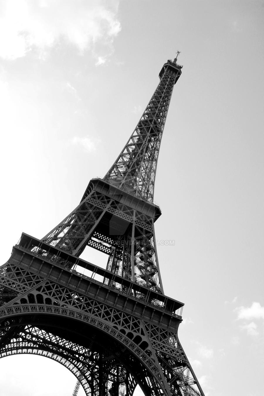 Eiffel Tower Black And White And Red Eiffel Tower Black And