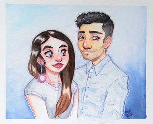 Watercolor gift by KaosNoKamisama