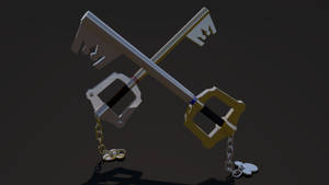Keyblade 3D Render - Mickey and Sora's Keyblades 1