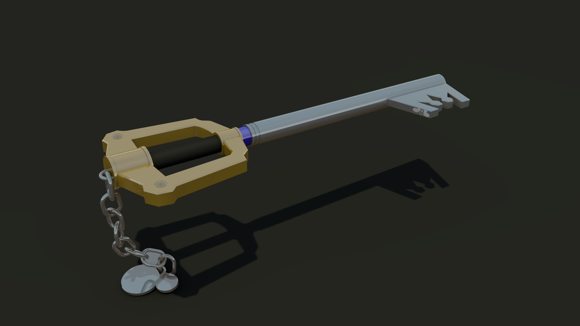 Keyblade 3D Render - Sora's Keyblade 2 by HaakonHawk