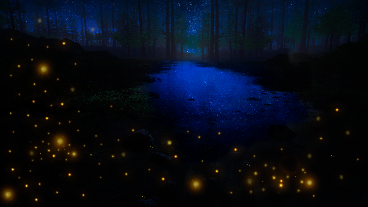 Fireflies in the Night by HaakonHawk