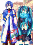 Merry Early Xmas from Miku and Kaito