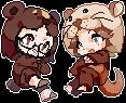 [C]-Otter and Bear by k-kuri