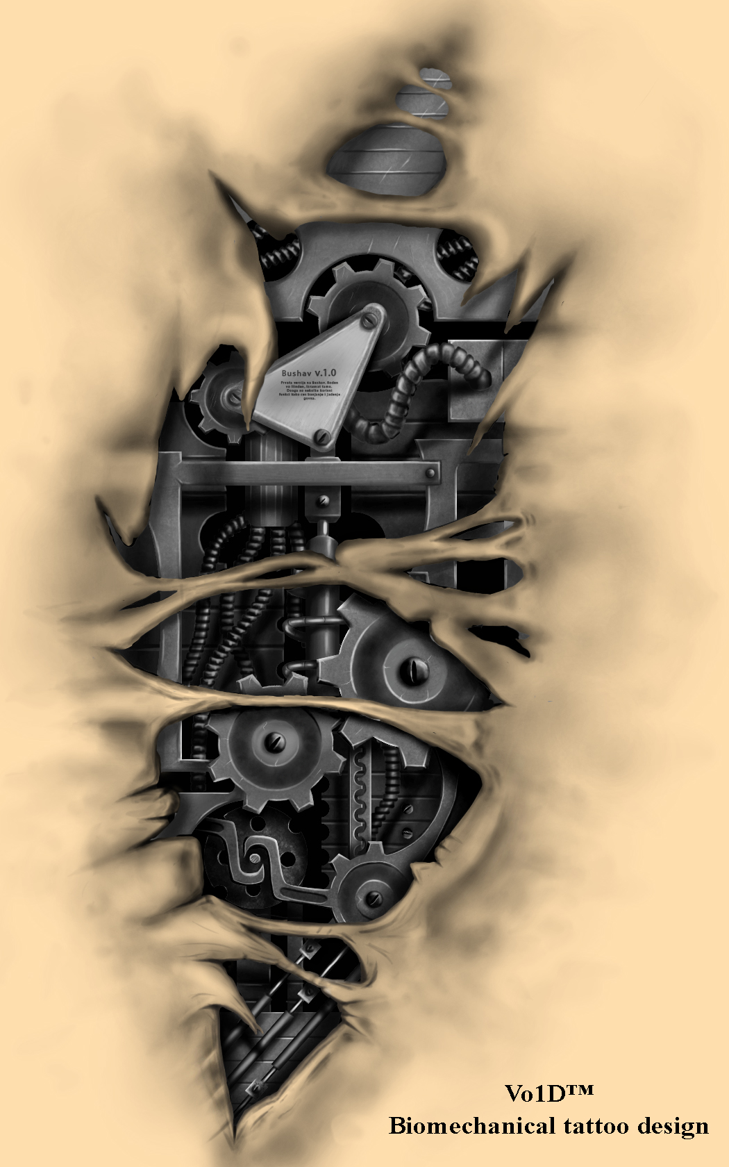 biomechanical tattoo design by vo1d danman on deviantart. Black Bedroom Furniture Sets. Home Design Ideas