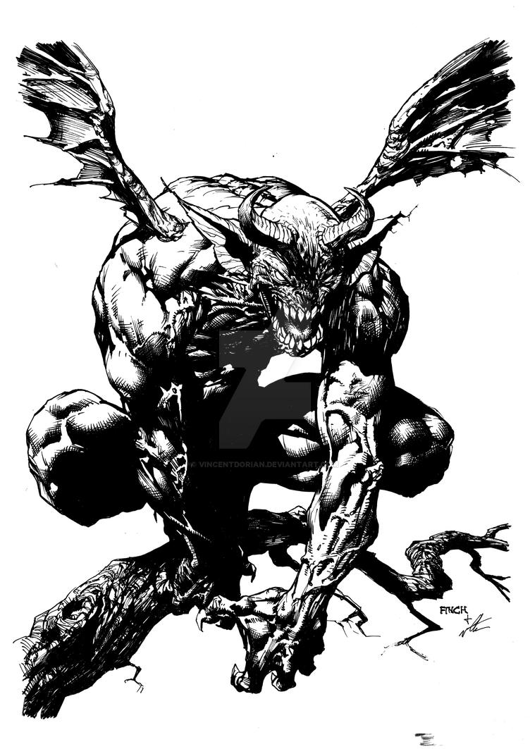 David Finch Sketch Inking By Vincentdorian On Deviantart