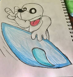 sealy the seal is Surfing by sealy123456