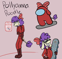 Among Us oc Polly Poodle by Clouddander