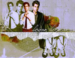 Logan Lerman Wallpaper by MaggieZine