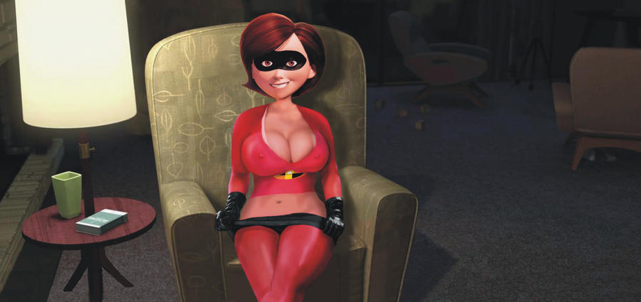 The Incredibles elasti-boobs Elastigirl by alugok