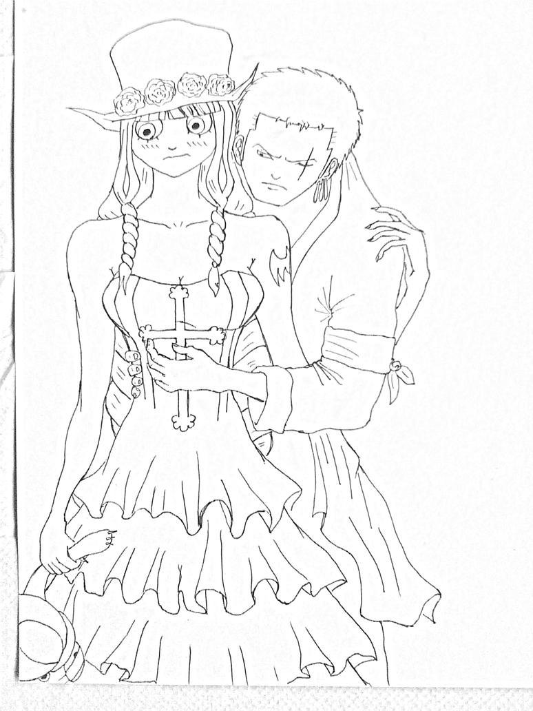 Zoro and Perona by KFXronos