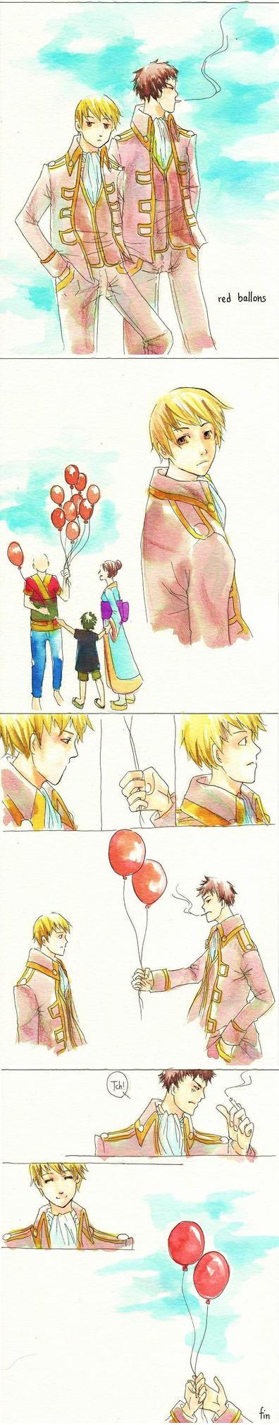 Gintama - Red Ballons by Yishuu