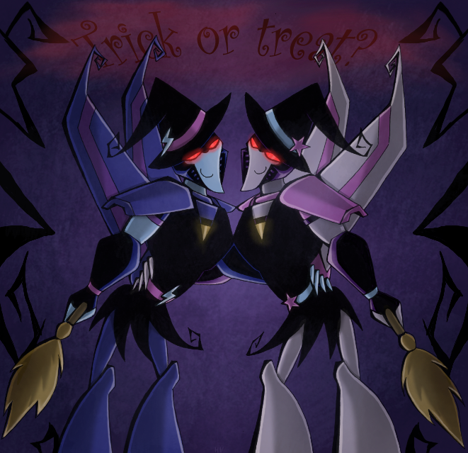 [Pro Art et Fan Art] Artistes à découvrir: Séries Animé Transformers, Films Transformers et non TF - Page 6 Tfa___trick_or_treat___11_by_rosey_raven-d4e9b0j