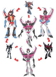TF - Hexafusion Starscream by Rosey-Raven