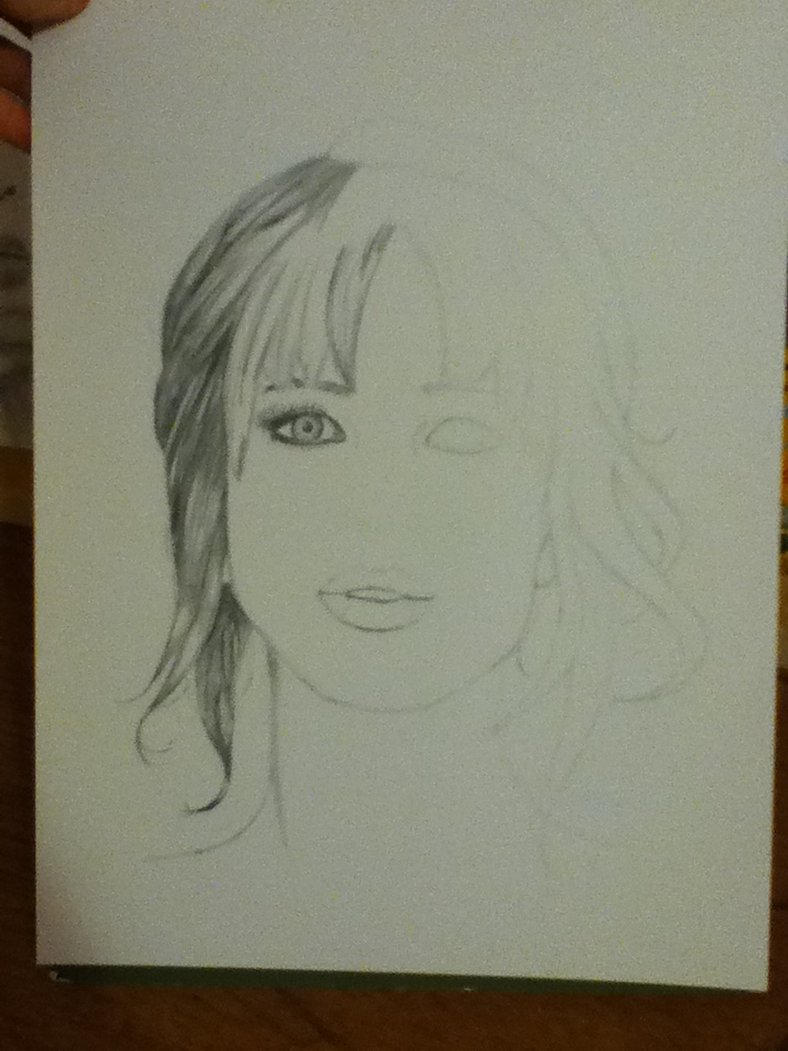 Jennifer Lawrence WIP 1 by KarenNicole97