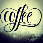 Coffee Hand lettering practice