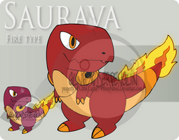 Fake Pokemon - Saurava by Prinny-Dood