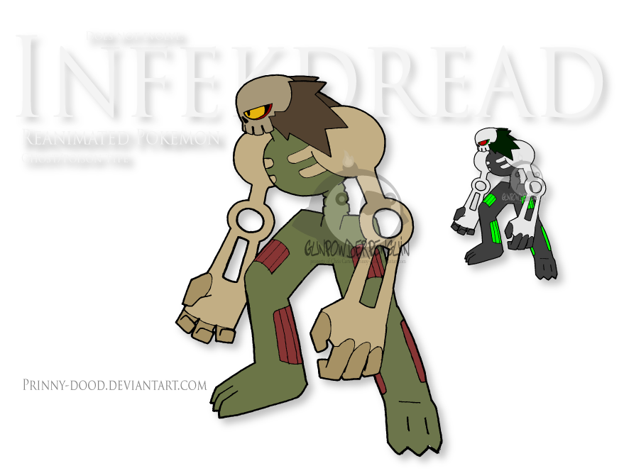 Fake Pokemon - Infekdread by Prinny-Dood